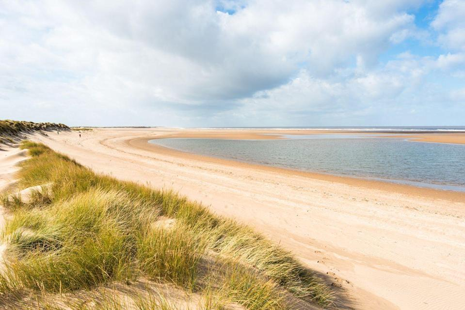 """<p>Arguably the most stunning of Norfolk's beaches, Holkham is pure wild, unspoilt, raw beauty. A seemingly endless stretch of fine golden sand backed by dunes and pine trees, it's a picturesque spot that's appealing to everyone. </p><p>A basin behind the shoreline fills at high tide to create a pretty shallow lagoon, and the area has even been the setting for Hollywood movies. It's perfect for everyone from families and dog walkers to couples and solo staycationers.</p><p><strong>Where to stay: </strong>Super-stylish and chic, <a href=""""https://go.redirectingat.com?id=127X1599956&url=https%3A%2F%2Fwww.booking.com%2Fhotel%2Fgb%2Fthe-hoste-luxury-boutique-hotel.en-gb.html%3Faid%3D2070936%26label%3Dnorfolk-beaches&sref=https%3A%2F%2Fwww.redonline.co.uk%2Ftravel%2Ftravel-guides%2Fg34735930%2Fnorfolk-beaches%2F"""" rel=""""nofollow noopener"""" target=""""_blank"""" data-ylk=""""slk:The Hoste"""" class=""""link rapid-noclick-resp"""">The Hoste</a> is located around 15 minutes inland from Holkham and makes a delightful base. Set in the upscale area of Burnham Market, it's a trendy area bursting with galleries, eateries and boutique shops.</p><p><a class=""""link rapid-noclick-resp"""" href=""""https://go.redirectingat.com?id=127X1599956&url=https%3A%2F%2Fwww.booking.com%2Fhotel%2Fgb%2Fthe-hoste-luxury-boutique-hotel.en-gb.html%3Faid%3D2070936%26label%3Dnorfolk-beaches&sref=https%3A%2F%2Fwww.redonline.co.uk%2Ftravel%2Ftravel-guides%2Fg34735930%2Fnorfolk-beaches%2F"""" rel=""""nofollow noopener"""" target=""""_blank"""" data-ylk=""""slk:CHECK AVAILABILITY"""">CHECK AVAILABILITY</a></p>"""