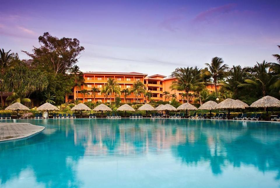 """<p><strong><a href=""""https://www.barcelo.com/en-gb/hotels/nicaragua/montelimar-beach/barcelo-montelimar/"""" rel=""""nofollow noopener"""" target=""""_blank"""" data-ylk=""""slk:Barceló Montelimar Hotel, Nicaragua"""" class=""""link rapid-noclick-resp"""">Barceló Montelimar Hotel, Nicaragua</a></strong><br>At this oceanfront hotel, honeymooning guests staying more than three nights will be offered the chance to go horseback riding on the beach. We can't think of a better way to kickstart married life than riding hand-in-hand into the sunset.</p><span class=""""copyright"""">Photo: Courtesy of</span>"""