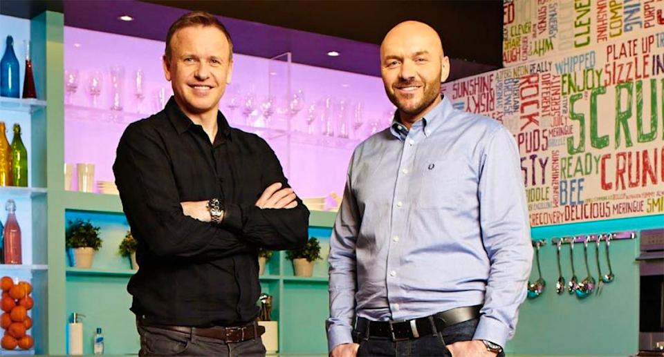 Tim Lovejoy and Simon Rimmer, the hosts of Sunday Brunch (Channel 4)