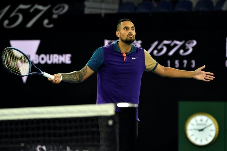 Party time: Australia's Nick Kyrgios will ensure a carnival atmosphere when he tackles US Open champion Dominc Thiem on his favourite John Cain Arena