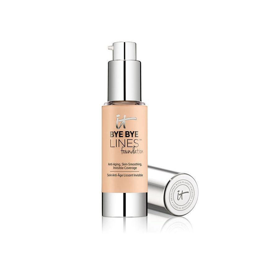 """<p><strong>Buy It: </strong>It Cosmetics Bye Bye Lines Foundation, $38; <a rel=""""nofollow"""" href=""""https://www.itcosmetics.com/bye-bye-lines-foundation/ITC_689.html#start=3&cgid=face-foundation"""">itcosmetics.com</a></p> <p>Think of this as a tinted anti-aging serum. It's formulated with the youth-enhancing properties typically found in skincare (like collagen, argan oil, caviar extract and hyaluronic acid) to firm and plump. Pure color pigments are then added into the mix to create an airbrushed finish, which helps disguise fines lines.</p>"""