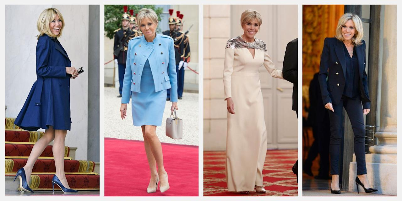 <p>They say French women dress better—and with Brigitte Macron, wife of French President Emmanuel Macron, that's certainly the case. While the couple has only resided in the Elysée Palace since May of 2017, Brigitte has already managed to make waves with her sleek, always polished style. Here, we've rounded up the best of the First Lady's looks.</p>