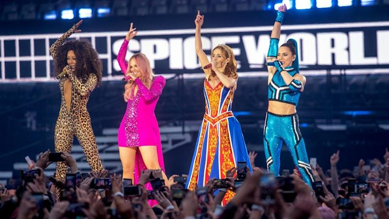 d57ea6723 Spice Girls Give Us Major Nostalgia With Reunion Tour Outfits -- See the  Fierce Looks