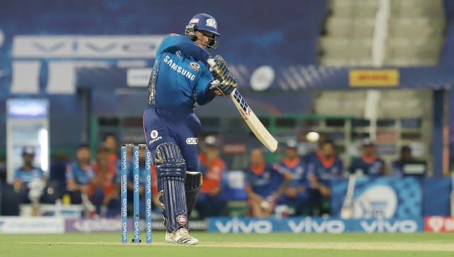 Quinton de Kock was the other main driving force in Mumbai Indians' innings, and his 55 off 42 had them poised to put up a decent total, but unfortunately, the players that came after him just could not build on the foundation he had created. SportzPics