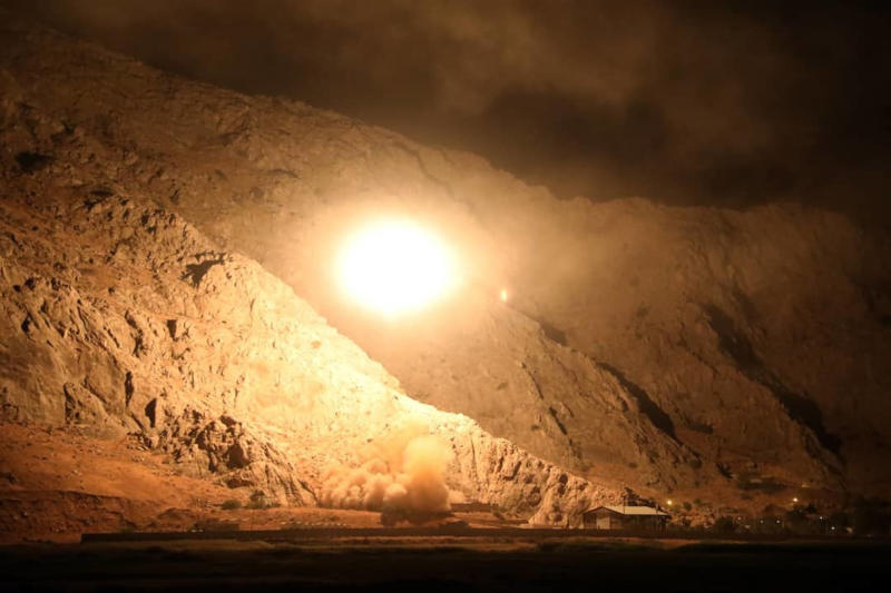 In this photo released on Monday, Oct. 1, 2018, by the Iranian Revolutionary Guard, a missile is fired from city of Kermanshah in western Iran targeting the Islamic State group in Syria. Iran's paramilitary Revolutionary Guard said Monday it launched ballistic missiles into eastern Syria targeting militants it blamed for a recent attack on a military parade. (Sepahnews via AP)