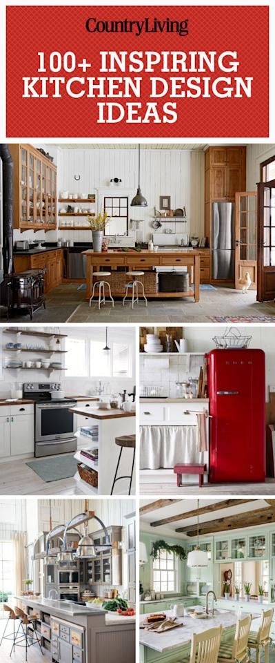 100 inspiring kitchen decorating ideas for Country living kitchen ideas
