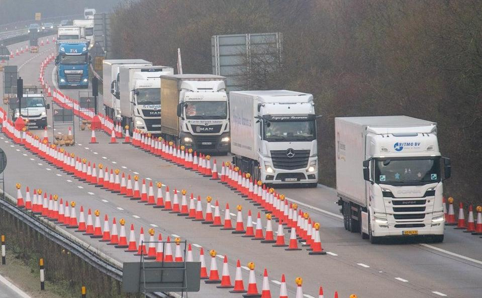 Supply chains have been in part hit by a shortage of lorry drivers (Steve Parsons/PA) (PA Archive)