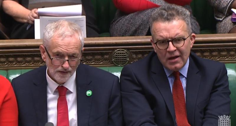 Labour party leader Jeremy Corbyn (left) and Labour deputy leader Tom Watson during Prime Minister's Questions in the House of Commons, London.
