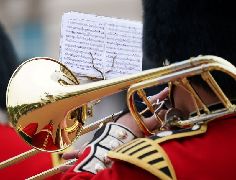 Changing of the Guard ceremony outside Buckingham Palace in London