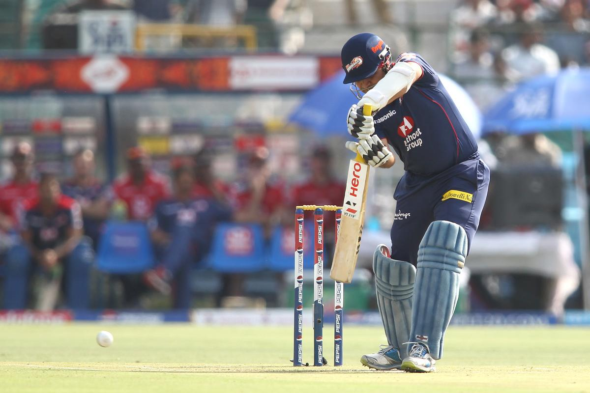 Virender Sehwag of Delhi Daredevils drives a delivery during match 52 of the Pepsi Indian Premier League (IPL) 2013 between The Rajasthan Royals and the Delhi Daredevils held at the Sawai Mansingh Stadium in Jaipur on the 7th May 2013..Photo by Shaun Roy-IPL-SPORTZPICS  ..Use of this image is subject to the terms and conditions as outlined by the BCCI. These terms can be found by following this link:..https://ec.yimg.com/ec?url=http%3a%2f%2fwww.sportzpics.co.za%2fimage%2fI0000SoRagM2cIEc&t=1500886193&sig=OS8tEm9VByi652x_Wz0.rA--~C
