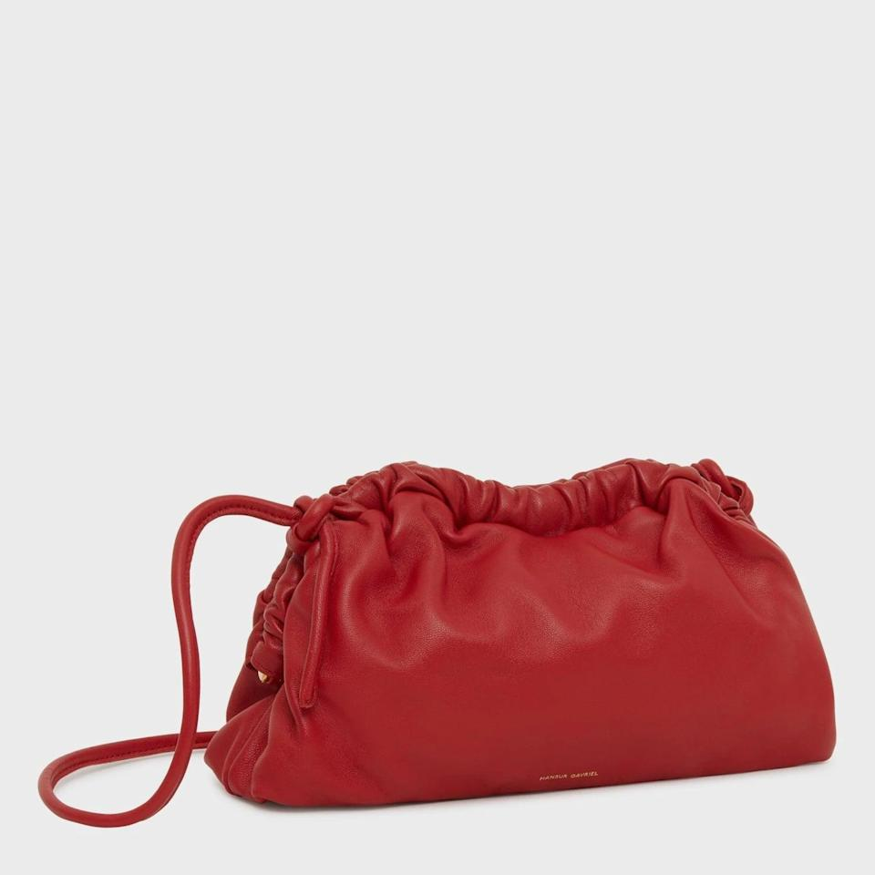 """<p>""""Don't roll your eyes at me because <span>Mansur Gavriel's Mini Cloud Clutch</span> ($495) comes in the perfect Valentine's Day-friendly shade. IMO, the label's signature Flamma colorway is pretty much a neutral, and fit for any person with a confident, pack-a-punch personality. This splurge is the ultimate V-Day gift to myself."""" - SW</p>"""