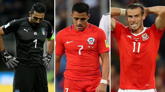 Three men who won't be playing in Russia this summer