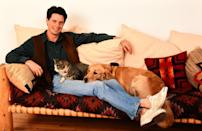 <p>Kyle MacLachlan with his pets in 1991.</p>