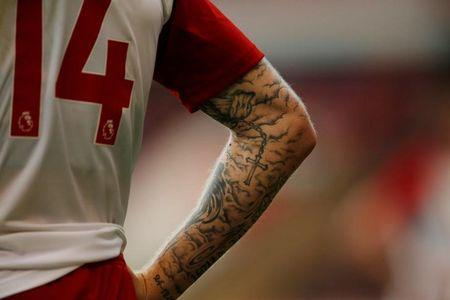 Soccer Football - Walsall vs West Bromwich Albion - Pre Season Friendly - Walsall, Britain - July 26, 2017   Tattoo on West Brom's James McClean   Action Images via Reuters/Andrew Boyers/Files