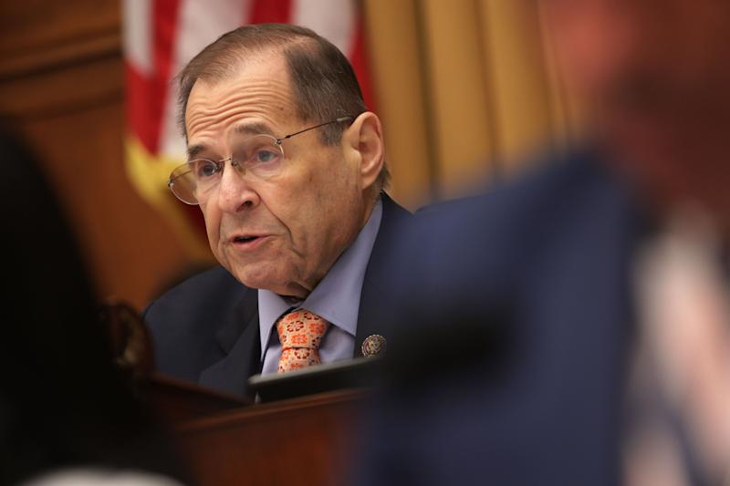 Chairman of U.S. House Judiciary Committee Rep. Jerry Nadler (D-N.Y.) speaks during a hearing in which former White House counsel Don McGahn was subpoenaed to testify May 21, 2019, on Capitol Hill in Washington, D.C. (Photo: Alex Wong via Getty Images)