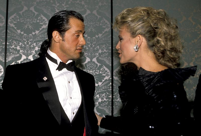 Yes, Sly Stallone and Vanna White dated. They attended the event as a couple in 1988. (Photo: Getty Images)