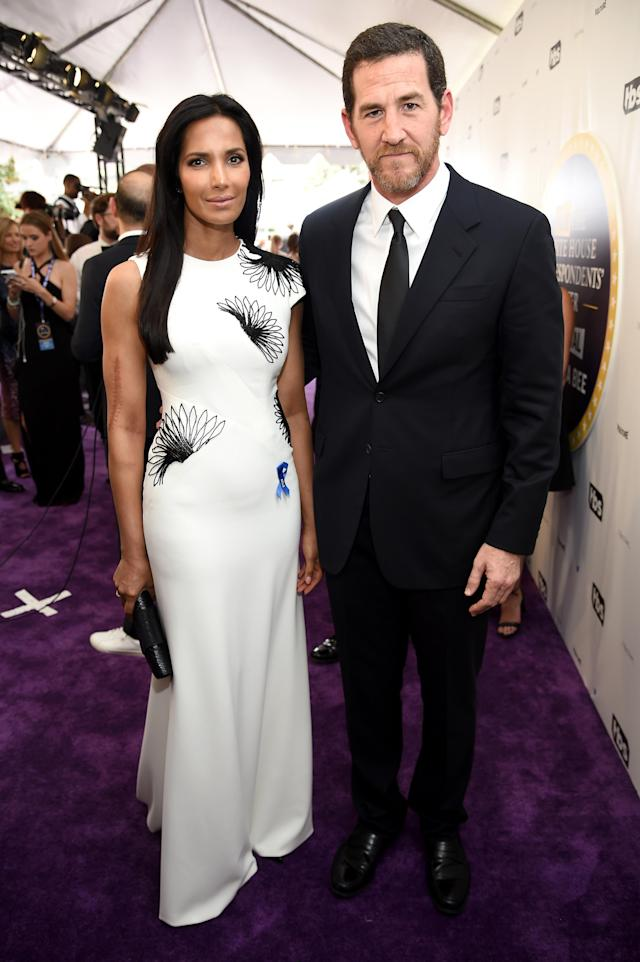 Padma Lakshmi and Adam Dell attend the White House Correspondents' Dinner in 2017. (Photo: Getty Images)