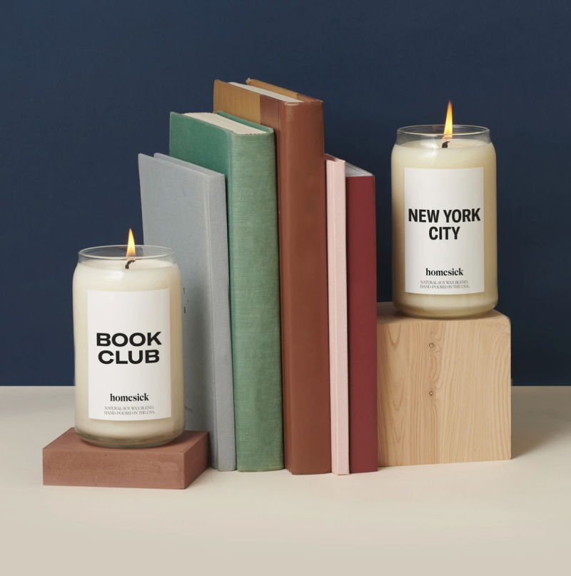 Homesick Candles in Book Club and New York City (Photo via Homesick)