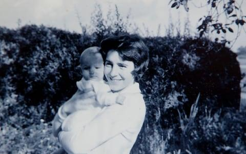 Dame Stephanie with her son Giles at three months - Credit: Courtesy of Dame Stephanie Shirley