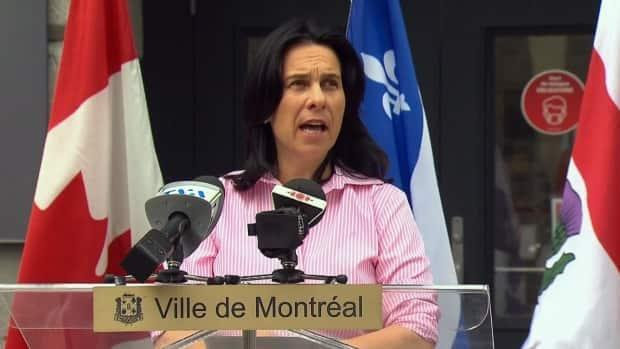 Montreal Mayor Valérie Plante says police will be intervening where possible, but the city is looking to for legal ways to put an end to such protests. (Radio-Canada - image credit)