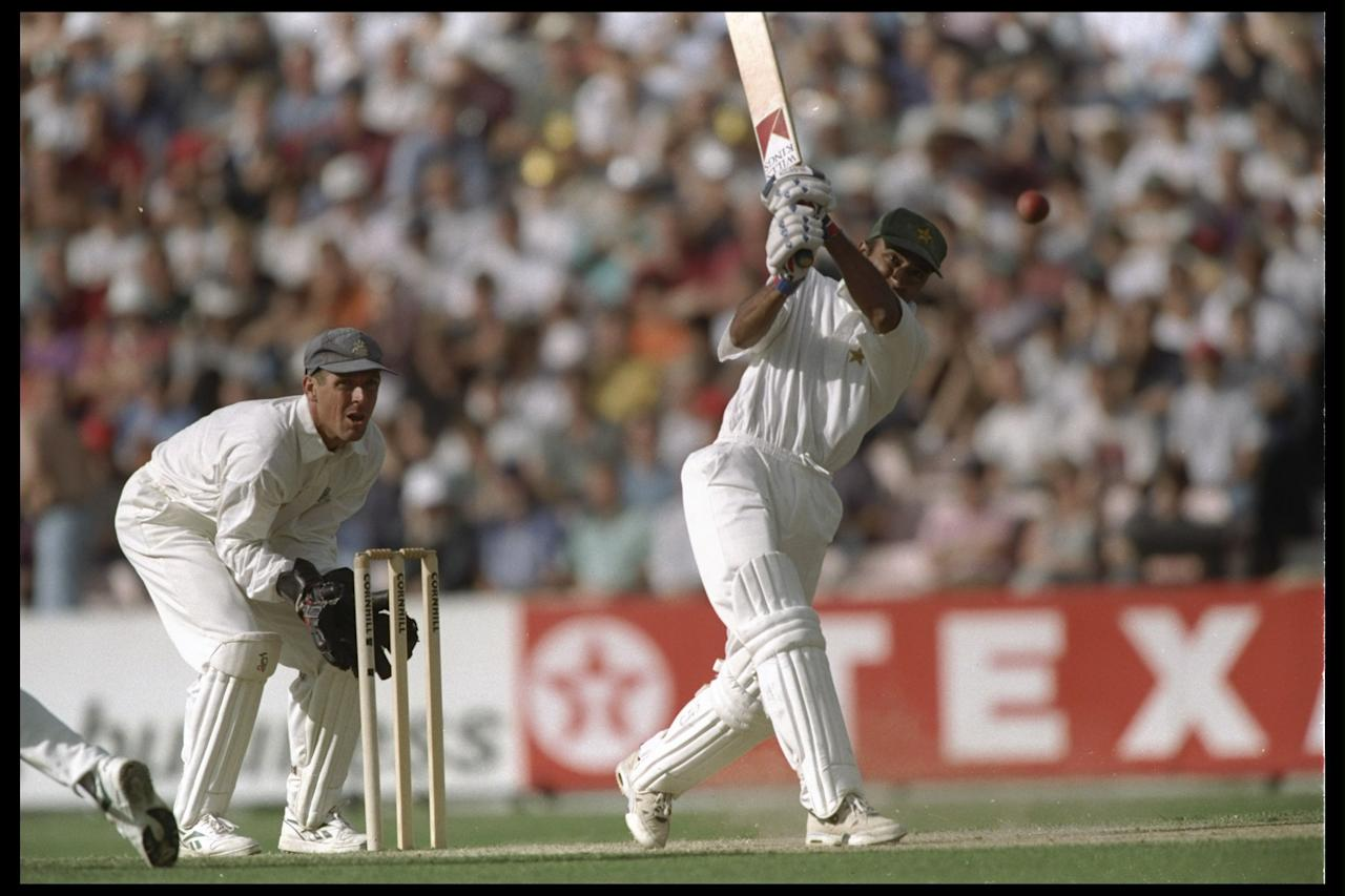 22-26 Aug 1996:  Saeed Anwar of Pakistan batting during the third test between England and Pakistan at the Oval in London. Mandatory Credit: Clive Mason/Allsport UK
