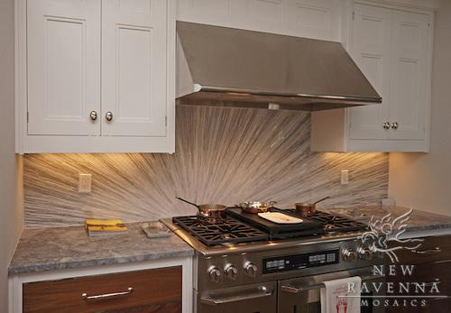 """Tatami Radiance, a """"hand-cut natural stone mosaic"""" from <a href=""""http://bit.ly/SOq8KU"""" rel=""""nofollow noopener"""" target=""""_blank"""" data-ylk=""""slk:New Ravenna"""" class=""""link rapid-noclick-resp"""">New Ravenna</a>. See many more beautiful photos in <a href=""""http://bit.ly/SOqAcf"""" rel=""""nofollow noopener"""" target=""""_blank"""" data-ylk=""""slk:New Ravenna's inspiration gallery"""" class=""""link rapid-noclick-resp"""">New Ravenna's inspiration gallery</a>. (Copyright: New Ravenna Mosaics 2012)"""