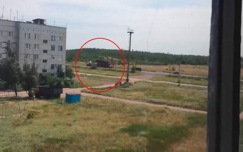 An image showing the Russian Buk missile launcher that shot down MH17 moving through separatist held territory before the incident.  - Credit: Universal News & Sport (Europe)
