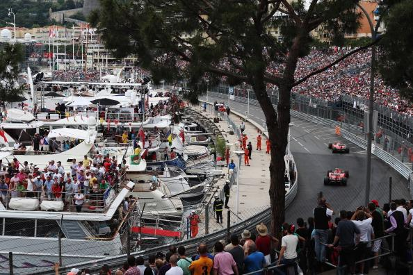 Fernando Alonso of Spain and Ferrari leads from team mate Felipe Massa of Brazil and Ferrari during the Monaco Formula One Grand Prix at the Circuit de Monaco on May 27, 2012 in Monte Carlo, Monaco. (Photo by Mark Thompson/Getty Images)