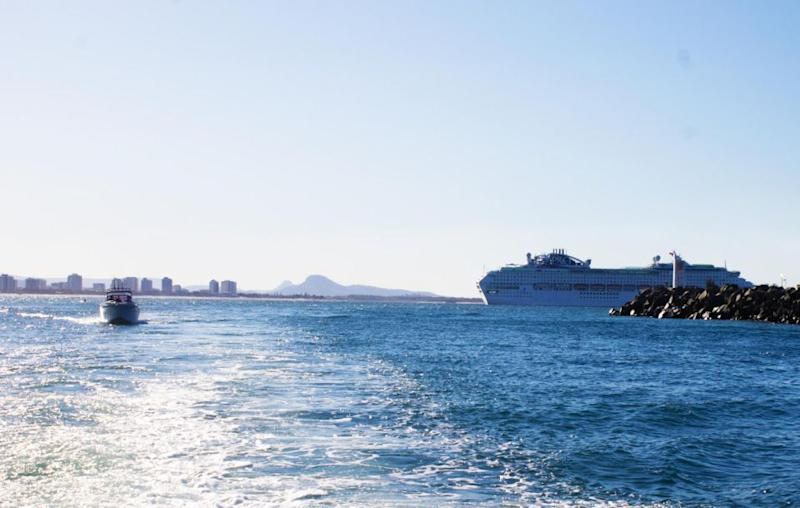 The Pacific Explorer in all it's glory when docked in Queensland. Source: Be