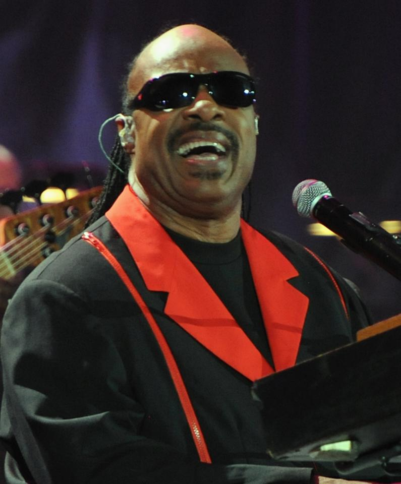 "Stevie Wonder performs at A Decade of Difference: A Concert Celebrating 10 Years of the William J. Clinton Foundation on October 15, 2011, at the Hollywood Bowl, Los Angeles. (Photo by Handout/Getty Images for Control Room)<br><br><a href=""http://news.yahoo.com/blogs/the-difference/rewatch-decade-difference-concert-081706702.html"">Watch the entire ""Decade of Difference"" concert right here</a>"