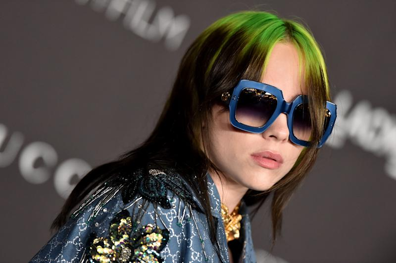 LOS ANGELES, CALIFORNIA - NOVEMBER 02: Billie Eilish attends the 2019 LACMA Art + Film Gala Presented By Gucci on November 02, 2019 in Los Angeles, California. (Photo by Axelle/Bauer-Griffin/FilmMagic)