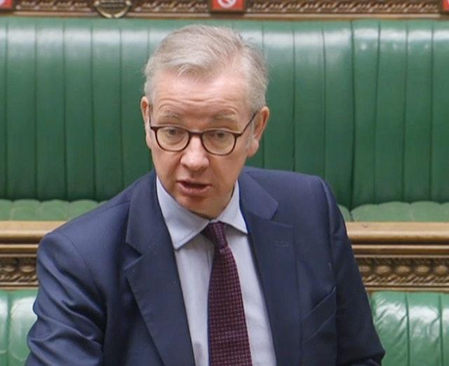 Cabinet Office minister Michael Gove admits he made a mistake about golf and tennis lockdown rules