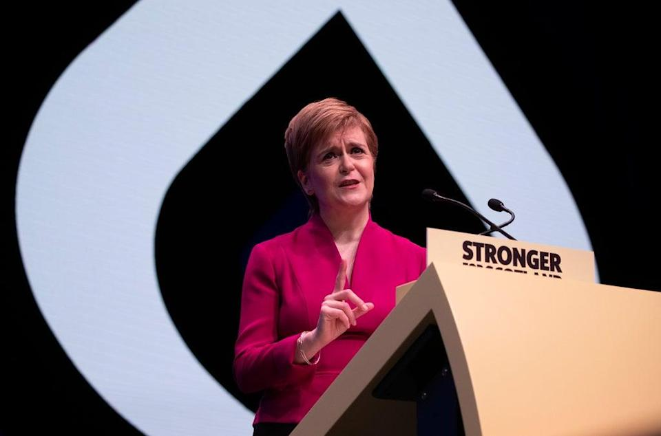 First Minister of Scotland Nicola Sturgeon will address the SNP conference on Monday (Jane Barlow/PA) (PA Archive)