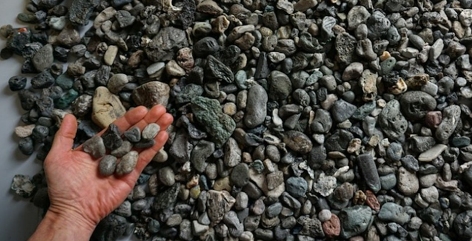 Plastic that looks just like pebbles. (Science of the Total Environment, 2019)