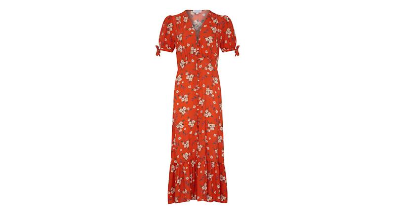 Maddy Dress Paloma Bouquets Red