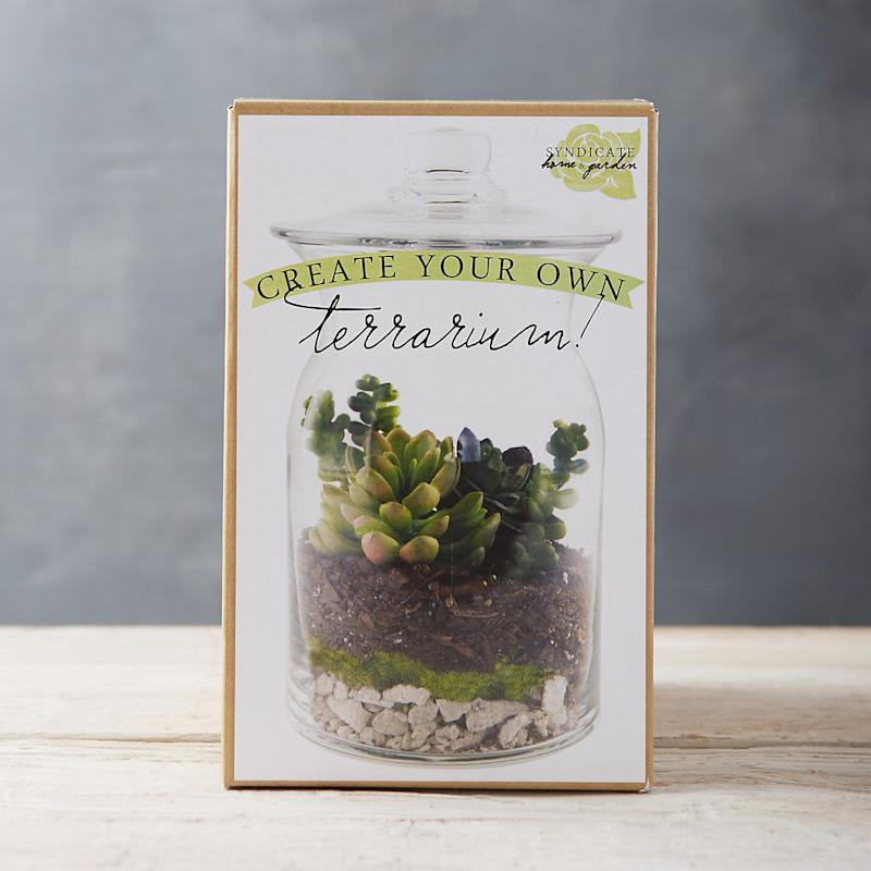 "Nothing says 'adult' like having some plants around. Dip your toes into the world of greenery with an <a href=""https://www.shopterrain.com/terrariums/create-your-own-terrarium-kit"" target=""_blank"">easy terrarium kit</a>."