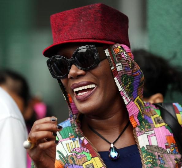 Singer Grace Jones attends day two of the Wimbledon Lawn Tennis Championships at the All England Lawn Tennis and Croquet Club on June 26, 2012 in London, England. (Photo by Julian Finney/Getty Images)