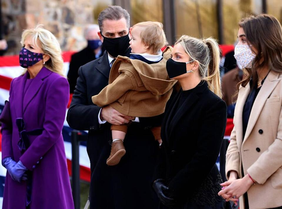 Hunter Biden, his infant son with wife Melissa Cohen
