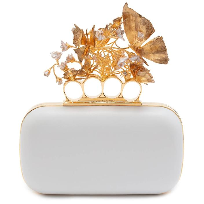 A box clutch from the exclusive capsule collection that will be available in the Miami Design District.