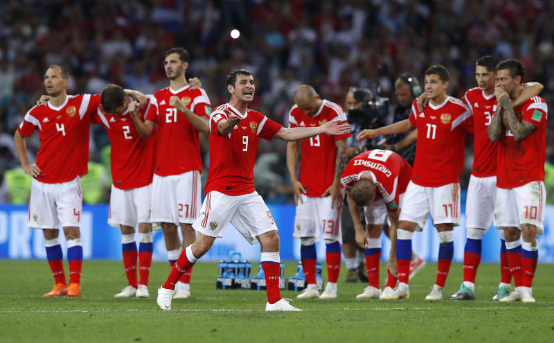 24,000 fans thank Russian players for fantastic World Cup display