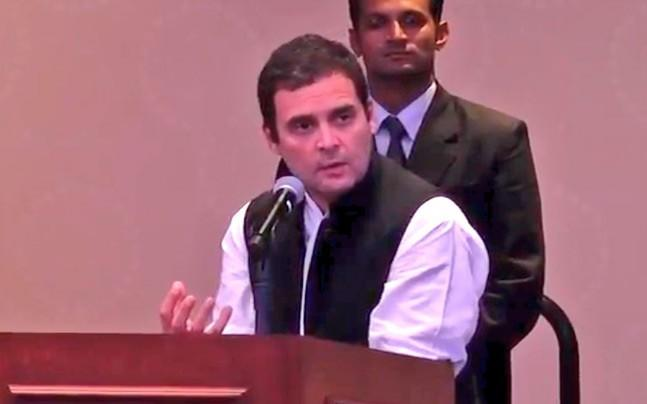 <p>On the last of his US tour, Congress vice-president Rahul Gandhi addressed a gathering of NRIs in New York. Rahul Gandhi targeted the Modi government saying India's reputation is being ruined in the world. </p>