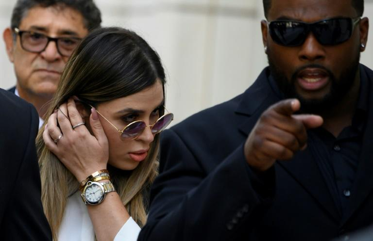Emma Coronel, wife of druglord Joaquin 'El Chapo' Guzman, leaves Brooklyn Federal Court after her spouse received a mandatory life sentence