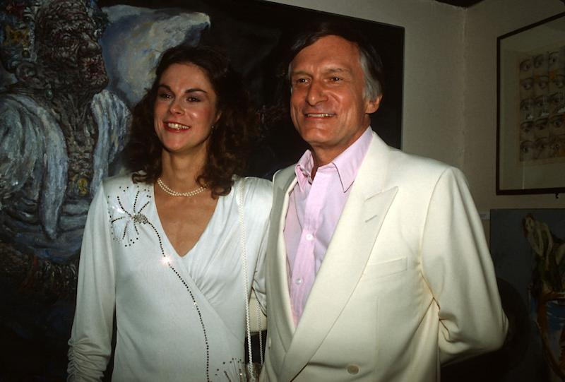 Hugh Hefner with his daughter Christie Hefner at the re-opening of the Playboy Club in New York City on Oct. 29, 1985.