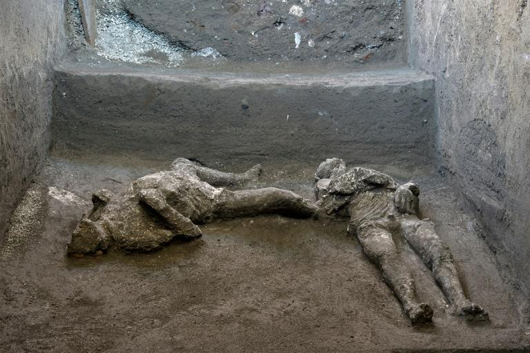 The remains of the two men, believed to have been a master and servant