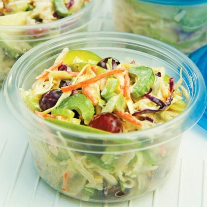 """<div class=""""caption-credit""""> Photo by: FamilyFun.go.com</div><div class=""""caption-title""""></div><p>   <b>Granny Smith Slaw</b> </p> <p>   Slightly sweet with a hint of citrus, this fruity slaw might convert even the most reluctant vegetable eaters. </p> <p>   <a rel=""""nofollow"""" href=""""http://familyfun.go.com/recipes/granny-smith-slaw-686998/?cmp=OTC_Shine_TeamMomPicnic_FFUN"""">Get the Recipe</a> </p>"""