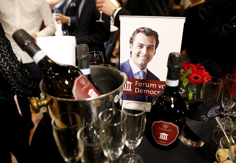 The Dutch far-right Forum for Democracy (FvD) party, led by Thierry Baudet, looks set to beat Prime Minister Mark Rutte's Liberals in the EU elections