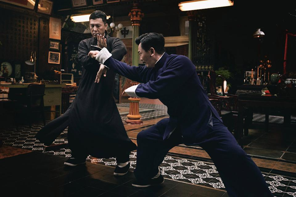 Donnie Yen (left) as Ip Man and Wu Yue as Wan Zong Hua in Ip Man 4: The Finale. (PHOTO: Shaw Organisation)