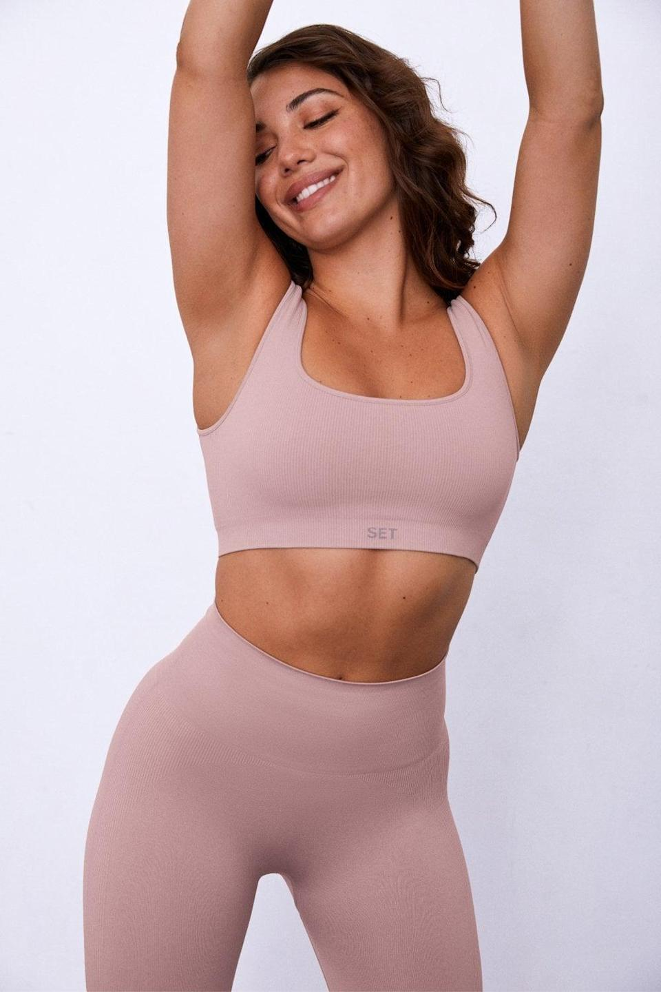 """<p>""""Lately I've been loving this <span>Sculptflex Box Cut Sports Bra</span> ($45) from Set Active. The amethyst color is so pretty and unique, and the simple straps and clean lines of the bra are really flattering. Since the brand sent it to me to try out, this sports bra has been my go-to for low-impact workouts and yoga flows."""" - Maggie Ryan, assistant editor, Fitness</p>"""