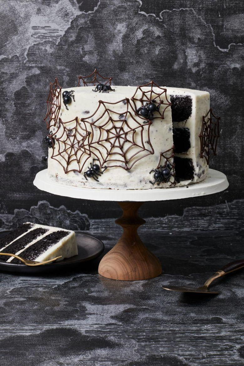 """<p>Halloween is all about treating yourself — which means you should go all in on preparing a ton of sweets. Try something creative, like <a href=""""https://www.goodhousekeeping.com/food-recipes/a33460086/witch-cupcakes-recipe/"""" rel=""""nofollow noopener"""" target=""""_blank"""" data-ylk=""""slk:witch cupcakes"""" class=""""link rapid-noclick-resp"""">witch cupcakes</a>, <a href=""""https://www.goodhousekeeping.com/food-recipes/party-ideas/a28609114/black-cat-cookies-recipe/"""" rel=""""nofollow noopener"""" target=""""_blank"""" data-ylk=""""slk:black cat cookies"""" class=""""link rapid-noclick-resp"""">black cat cookies</a>, or <a href=""""https://www.goodhousekeeping.com/food-recipes/a28542349/chocolate-and-pumpkin-ice-cream-sandwiches-recipe/"""" rel=""""nofollow noopener"""" target=""""_blank"""" data-ylk=""""slk:choco-pumpkin ice-cream sandwiches"""" class=""""link rapid-noclick-resp"""">choco-pumpkin ice-cream sandwiches</a>. </p><p><em><a href=""""https://www.goodhousekeeping.com/food-recipes/dessert/a33461174/spider-web-cake-recipe/"""" rel=""""nofollow noopener"""" target=""""_blank"""" data-ylk=""""slk:Get the recipe for Spider Web Cake »"""" class=""""link rapid-noclick-resp"""">Get the recipe for Spider Web Cake »</a></em></p><p><strong>RELATED: </strong><a href=""""https://www.goodhousekeeping.com/holidays/halloween-ideas/g244/halloween-desserts/"""" rel=""""nofollow noopener"""" target=""""_blank"""" data-ylk=""""slk:55+ Best Halloween Desserts to Make This October"""" class=""""link rapid-noclick-resp"""">55+ Best Halloween Desserts to Make This October</a></p>"""