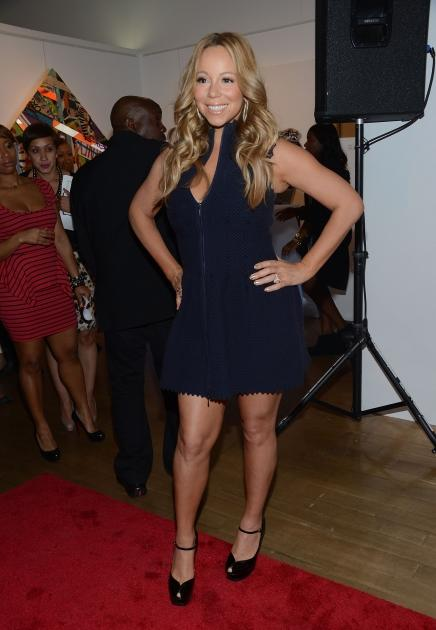 Lookin' good, Mimi! Mariah Carey is spotted at the Project Canvas Charity Event Hosted By Nick Cannon at The Opera Ballroom at Crest in New York City on May 11, 2012 -- Getty Images